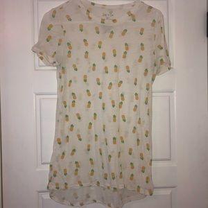 Zoe+Liv Short Sleeve Shirt White Size S
